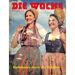 2643 DIE WOCHE-No.45-1938 WWII magazine - Ostmark, Balbo in Germany itaslian Marshall, 42 pages