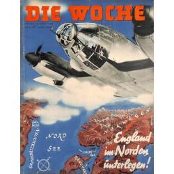 2660 DIE WOCHE-No.17-1940 WWII magazine - Luftwaffe Britain , Norway, 28 pages,,german illustrated magazine, many photos