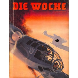 2666	 DIE WOCHE	-No.	7-1940		 WWII magazine - 	WWII artillery	, 22 pages,	,german illustrated magazine, many photos