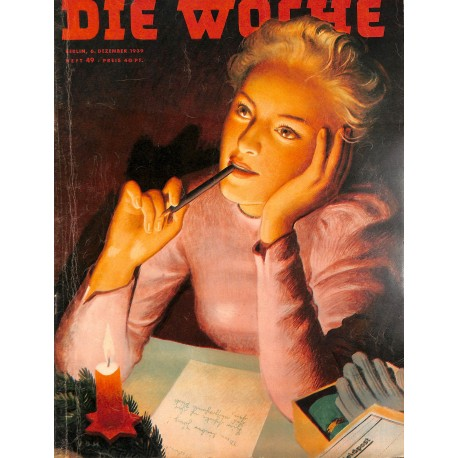 2680 DIE WOCHE-No.49-1939 WWII magazine - WWII, 32 pages,,german illustrated magazine, many photos
