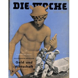 2692	 DIE WOCHE	-No.	6-1939		 WWII magazine - 	money and economy, Reichstag long peace	, 42 pages,	,german illustrated magazine