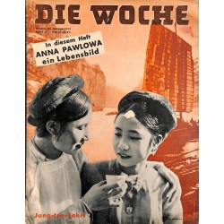 2703	 DIE WOCHE	-No.	3-1937		 WWII magazine - 	Anna Pawlowa, Jang-tse China	, 42 pages,	,german illustrated magazine