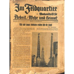 2707	 IM FELDQUARTIER 	-No.	2/3-1935		-	 illustrated german military magazine, very rare	, 32 pages