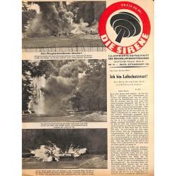 2841 DIE SIRENE No. 18-1943- Reichsluftschutzbund - RLB - Luftschutz magazine civil protection, firefighting, air raids