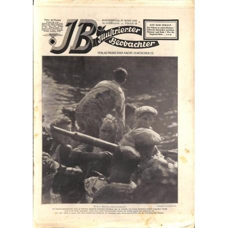 4113 ILLUSTRIERTER BEOBACHTER  WWII No. 13-1941-March 27