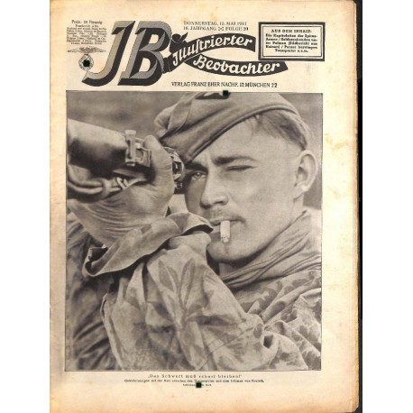 4120 ILLUSTRIERTER BEOBACHTER  SS Greece WWII No. 20-1941-May 15