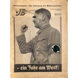 4466 ILLUSTRIERTER BEOBACHTER  Special Issue1934-Jahrestag der Machtergreifung - Ein Jahr am Werk