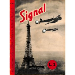 5301	 INCOMPLETE SIGNAL	-No.	D/I	8-1940	 SIGNAL German/Italian issue - illustrated german magazine	france, Paris