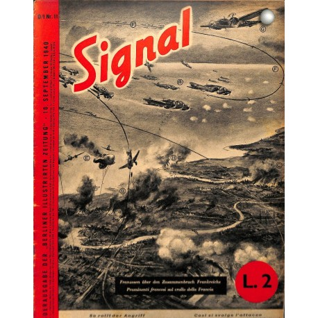 5304 SIGNAL-No.D/I11-1940 SIGNAL German/Italian issue - illustrated german magazine