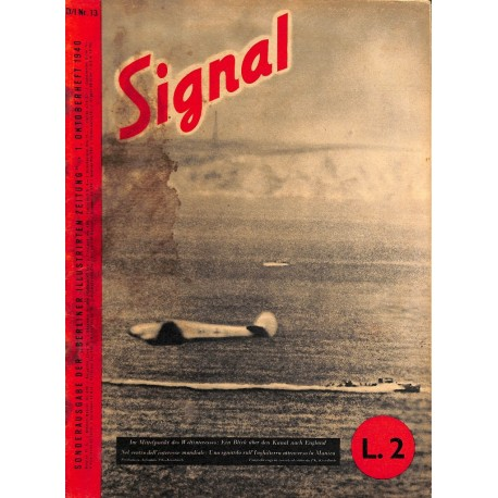 5305	 SIGNAL	-No.	D/I	13-1940	 SIGNAL German/Italian issue - illustrated german magazine