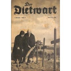 5746 DER DIETWART No.  23/ 4.yearMarch 8 1939 content:Der Frontsoldat, Ofpermut und Stolz, Heldischer Sieg
