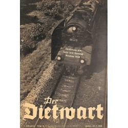 5750 DER DIETWART No.  8/ 4.yearJuly 20 1938 content:Die Trommel ruft und wir marschieren!, Vom Wert der Arbeit