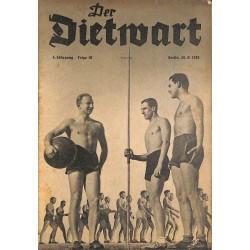 5752 DER DIETWART No.  10/ 4.yearAugust 20 1938 content:Worte, die nicht verklingen dürfen, Der Bauer, Völkische Ansprache