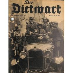 5756 DER DIETWART No.  14/ 4. yearOctober 20 1938 content:Dem Reichssportführer zum Gruß, Konrad Henlein und seine Turner