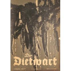5760 DER DIETWART No.  18/ 4. yearDecember 23 1938 content:Der Sudetengau im DRL, Ewig rolltdas Rad des Seins, Die Feiern