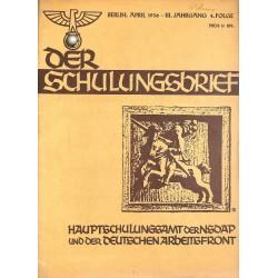 6407 DER SCHULUNGSBRIEF No. 4-1936-3rd year, AprilSein Vermächtnis der Gegenwart, Das Blut von Braunau, Der Führer, Heil!,
