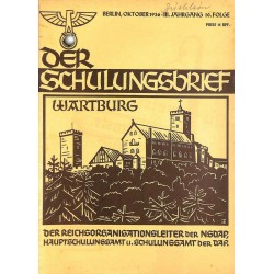 6415 DER SCHULUNGSBRIEF No. 10-1936-3rd year, OctoberWartburg, Clausewitz und unsere Zeit, Um die Ehre