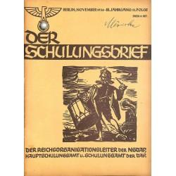 6418 DER SCHULUNGSBRIEF No. 11-1936-3rd year, NovemberEin Lehrer unserer Zeit, Totenehrung, Letzte Worte unserer Blutzeuge