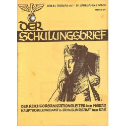 6423	 DER SCHULUNGSBRIEF	 No. 2	-1937	-	4th year, February	Krone und Schleier