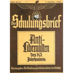 6427	 DER SCHULUNGSBRIEF	 No. 7	-1937	-	4th year, July	Anti-Liberalisten des 19.Jahrnuderts: Immanuel Kant