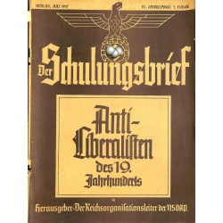 6428	 DER SCHULUNGSBRIEF	 No. 7	-1937	-	4th year, July	Anti-Liberalisten des 19.Jahrnuderts: Immanuel Kant