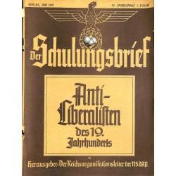 6428 DER SCHULUNGSBRIEF No. 7-1937-4th year, JulyAnti-Liberalisten des 19.Jahrnuderts: Immanuel Kant