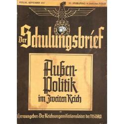 6431 DER SCHULUNGSBRIEF No. 9-1937-4th year, SeptemberAußenpolitik im Zweiten Reich: Von der Reichsgründung