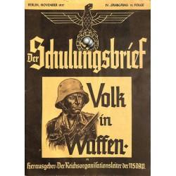 6435 DER SCHULUNGSBRIEF No. 11-1937-4th year, NovemberVolk in Waffen: Langemarck, Der Weltkrieg 1.Teil