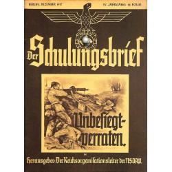 6436 DER SCHULUNGSBRIEF No. 12-1937-4th year, DecemberUnbesiegt - verraten