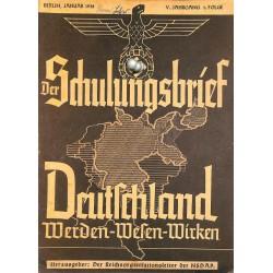 6437 DER SCHULUNGSBRIEF No. 1-1938-5th year, JanuaryDeutschland Werden-Wesen-Wirken