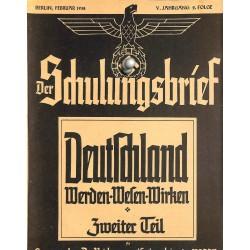 6443 DER SCHULUNGSBRIEF No. 2-1938-5th year, FebruaryDeutschland Werden-Wesen-Wirken Teil 2