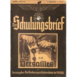6445 DER SCHULUNGSBRIEF No. 3-1938-5th year, MarchNie wieder Versailles!