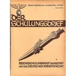 6563 DER SCHULUNGSBRIEF No. 2-1935-2nd year, FebruaryAus Horst Wessel's Tagebuch