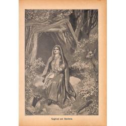 "0122 Siegfried Genofesa saga vintage german print 1904 size 6.3"" x 8.98"" / 16 cm x 22,8 cm - 100% authentic"
