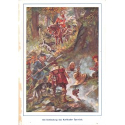 "0137	 Karlsbad water knights	 vintage german print 1904 size 6.3"" x 8.98"" / 16 cm x 22,8 cm - 100% authentic"
