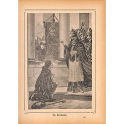 "0148	 Tannhauser Wagner saga	 vintage german print 1904 size 6.3"" x 8.98"" / 16 cm x 22,8 cm - 100% authentic"