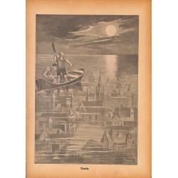 """0161 Vineta city sunk  vintage german print 1904 size 6.3"""" x 8.98"""" / 16 cm x 22,8 cm - 100% authentic"""
