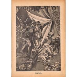 "0171 king Rother arabs vintage german print 1904 size 6.3"" x 8.98"" / 16 cm x 22,8 cm - 100% authentic"