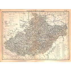 0195	 Map/Print- 	Mohravia Silesia Möhmen Mähren Europe German Reich	 - No.	26	Vintage German Map Print 1902 size:26x34cm