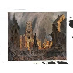 6012-German soldiers destroyed citiy tankby Otto Engelhardt-Kyffhäuserpainting