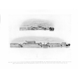 6048-drawing Berlin Museum Isle useumsinsel 1841/1864by August Stülerarchitecture