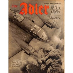 0801	 DER ADLER	 -No.	24	-1942 French edition/ edition francaise	 vintage German Luftwaffe Magazine Air Force WW2 WWII