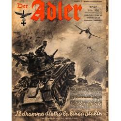 0842 DER ADLER -No.17-1941 Italian issue vintage German Luftwaffe Magazine Air Force WW2 WWII