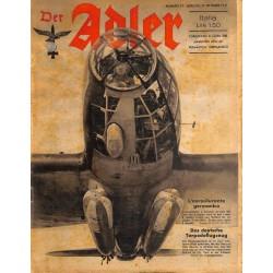 0844 DER ADLER -No.21-1941 Italian issue vintage German Luftwaffe Magazine Air Force WW2 WWII