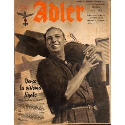 0850 DER ADLER -No.18-1941 Italian issue vintage German Luftwaffe Magazine Air Force WW2 WWII