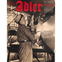 0856	 DER ADLER	 -No.	2.März Heft	-1943 Sonderdruck	 vintage German Luftwaffe Magazine Air Force WW2 WWII