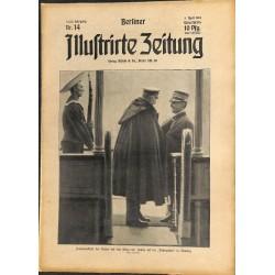 1282 preWWI-No. 14-1914 BERLINER ILLUSTRIRTE ZEITUNG German illustrated magazineApril 5 1914
