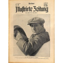 1283 preWWI-No. 15-1914 BERLINER ILLUSTRIRTE ZEITUNG German illustrated magazineApril 12 1914