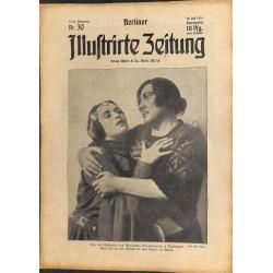 1298 WWI -No. 30-1914 BERLINER ILLUSTRIRTE ZEITUNG German illustrated magazineJuly 26 1914