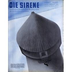 1625 DIE SIRENE No. 2-1940- Reichsluftschutzbund - RLB - Luftschutz magazine civil protection, firefighting, air raids